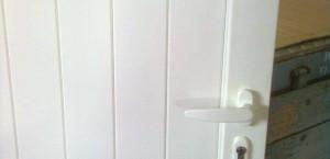 Porta de Alumínio Lacado a Branco